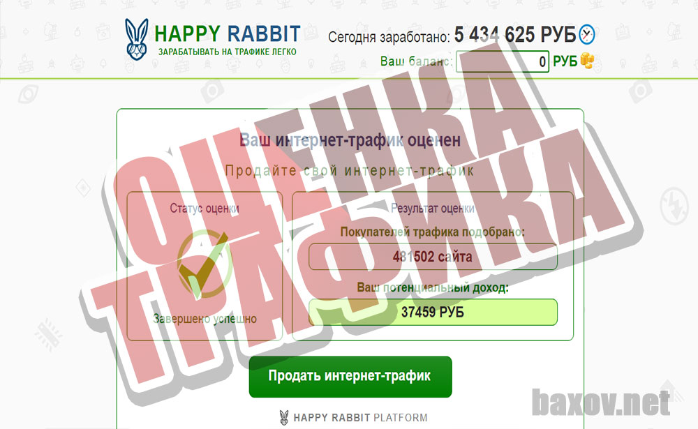 HAPPY RABBIT оценен трафик