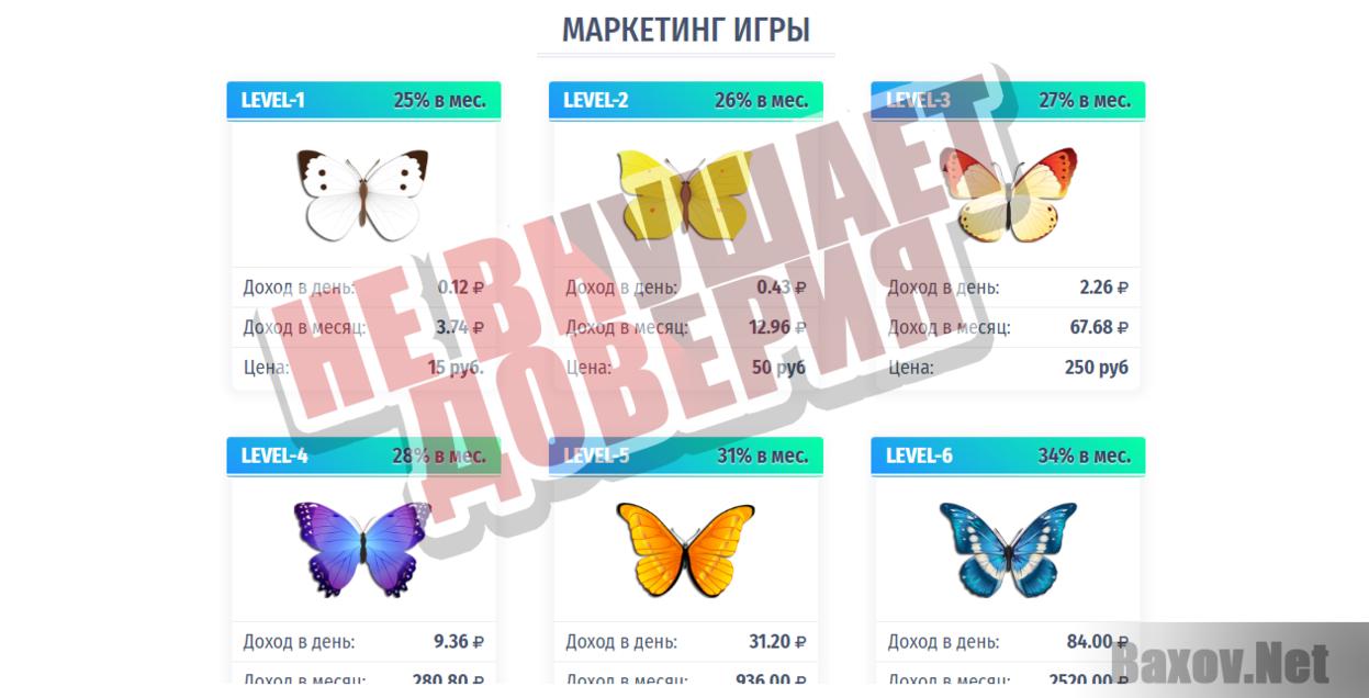 игра бабочки с выводом денег вход