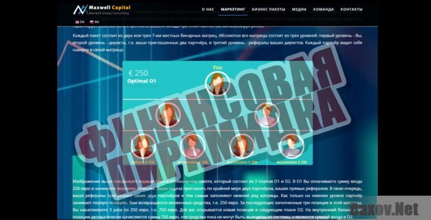 Maxwell Capital Финансовая пирамидка